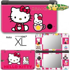 Capa Vinil p/ DSi XL -Hello Kitty Pink